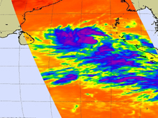 AIRS image of Tropical Cyclone 07B