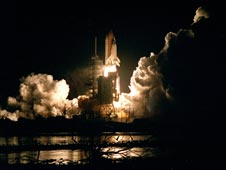 Space shuttle Endeavour lifts off on mission STS-88.