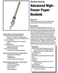 paper stomp rocket template - students building paper rocket nasa pics about space