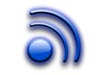 Blue RSS (really simple syndication) icon