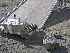 Cratos rover prototype delivers payload to ROxygen during testing