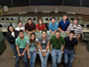 A group of High School Aerospace Scholars in Mission Control
