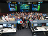 Large group of NASA volunteers in Mission Control