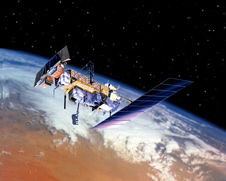 Artist concept of NOAA-N Prime in orbit.