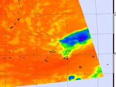 AIRS image of Tropical Depression 27W