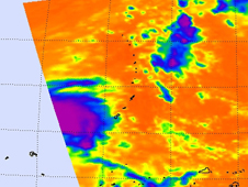 AIRS image of Tropical Cyclone 27W