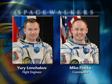 Expedition 18 Spacewalkers Yury Lonchakov and Mike Fincke