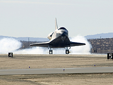 Endeavour lands at Edwards Air Force Base