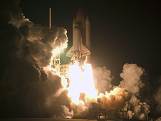 Endeavour launches on the STS-126 mission