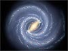 This artist's concept illustrates the new view of the Milky Way