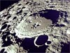 A crater on Earth's moon