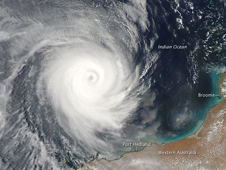 Cyclone Billy off the coast of Australia
