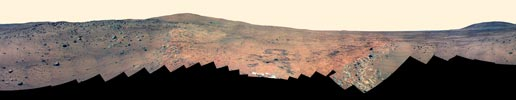 false-color panorama of Mars