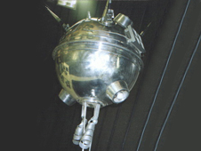 The Russian Luna 1 spacecraft