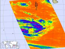 AIRS image of Tropical Cyclone Dongo from Jan. 9, 2009