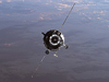 ISS013-E-82936 --- Soyuz TMA-9 spacecraft approaches the International Space Station on Sept. 20, 2006.