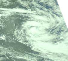 AIRS visible image of Tropical Cyclone Dongo from Jan. 12, 2009