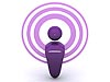 Purple podcast icon
