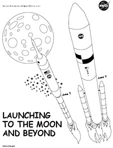 The first page of the Launching to the Moon and Beyond Fun Pages