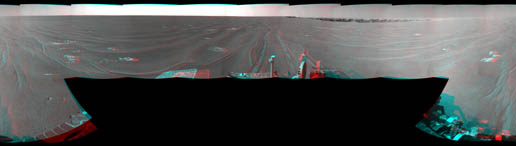 stereo view from West of Victoria Crater