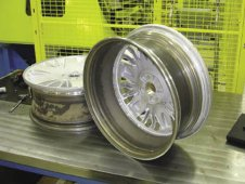 The friction stir welding process is currently being used in the manufacturing of wheel rims.