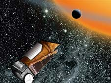 Artist's concept of Kepler in space