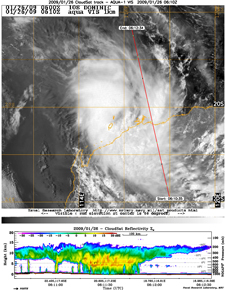 CloudSat image of Tropical Storm Domenic