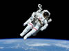 untethered astronaut on EVA