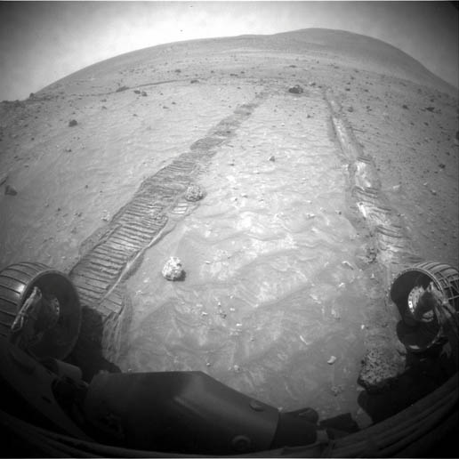 Spirit's view on Mars