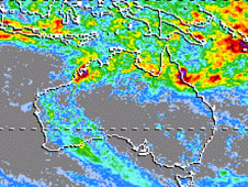 TRMM image of Tropical Cyclone Ellie