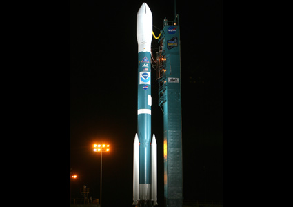 Delta II rocket and NOAA-N Prime ready for launch