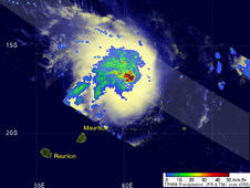 TRMM image of Gael on February 4, 2009