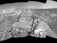 full-circle view of the rover's surroundings
