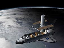 A 3-D animation of Hubble Space Telescope repair mission STS-125