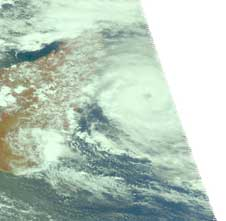 AIRS image of Gael from Feb. 6, 2009