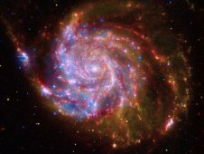 Composite image of spiral galaxy Messier 101, or M101