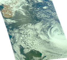 AIRS image of Gael from Feb. 11, 2009
