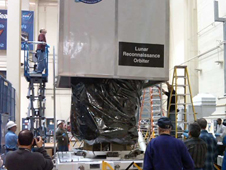 photo of LRO being crated