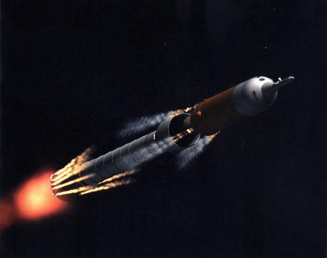 Ares I Stage Separation (Photo Credits: NASA/MFSC)