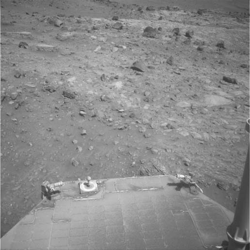dust on Spirit's solar panel