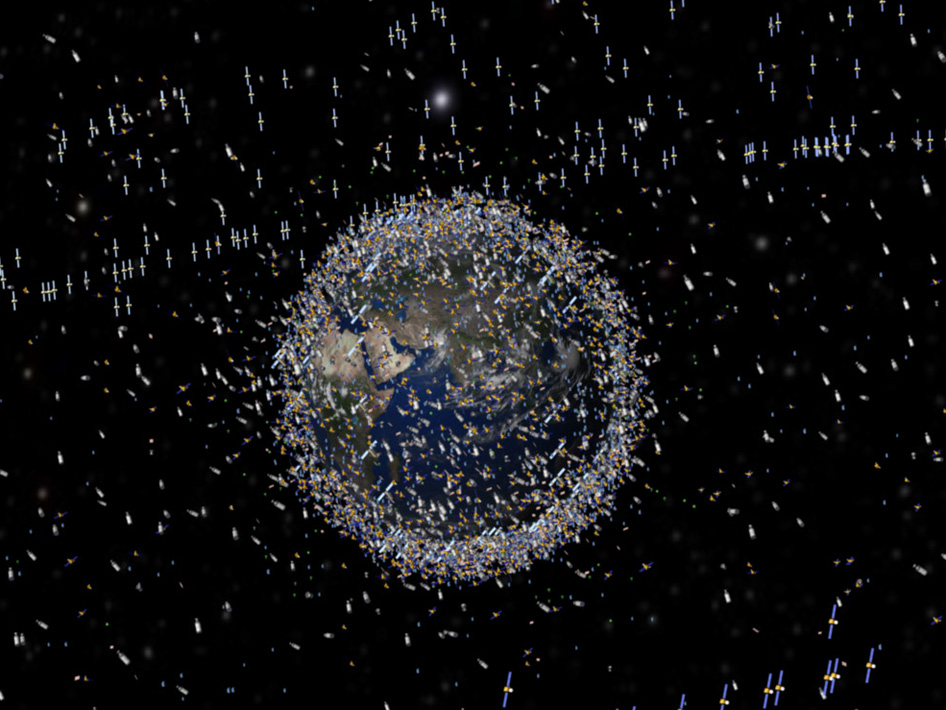 Satellites encircling the Earth
