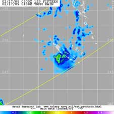 TRMM image of Tropical Cyclone Innis