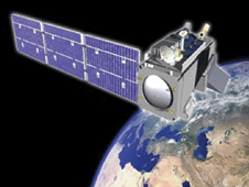 artist rendering of the NPP satellite