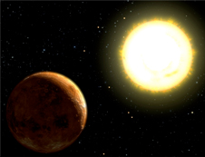 Artist's concept of a terrestrial exoplanet.