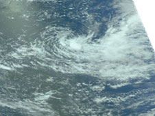 AIRS image of Hina on February 24, 2009