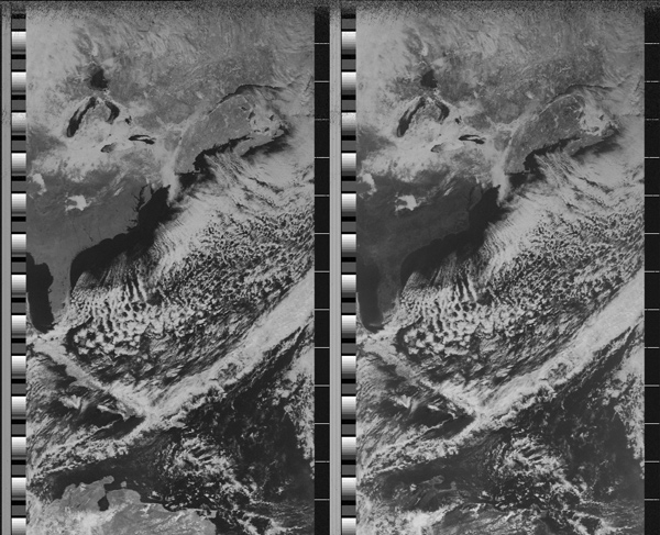 NOAA-19 first image taken by Fred E. Piering