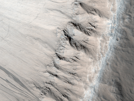 First Observation of Columnar Jointing on Mars