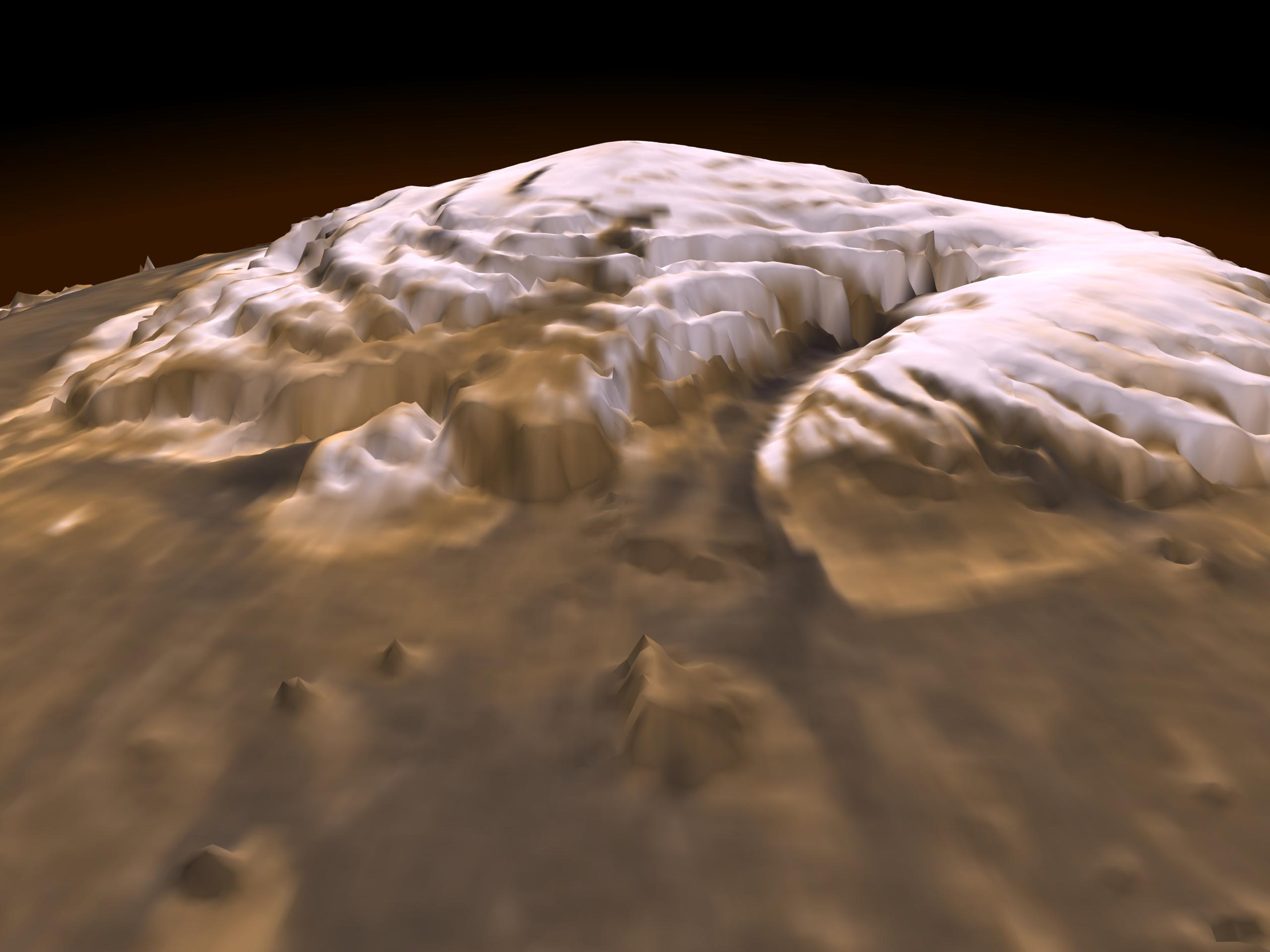 Imagen del planeta Marte en 3D