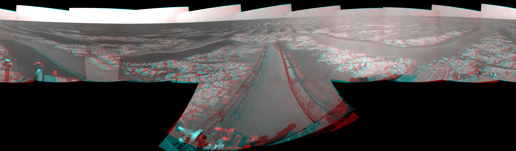 Opportunity's View After Drive on Sol 1806 (Stereo)