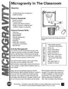 First page of Microgravity In The Classroom